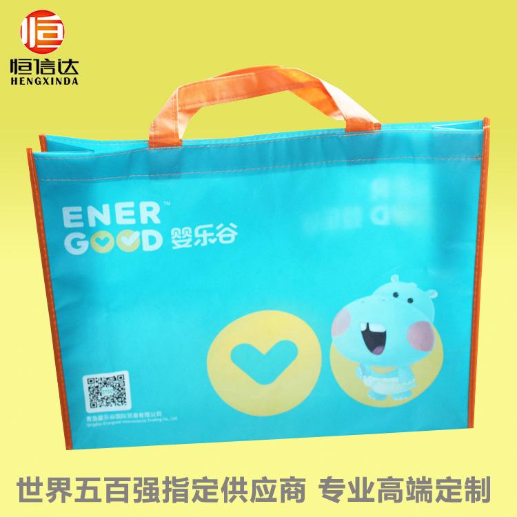 人工车缝彩印覆膜母婴店纸尿裤购物手提袋